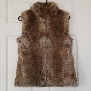 Express rabbit fur vest
